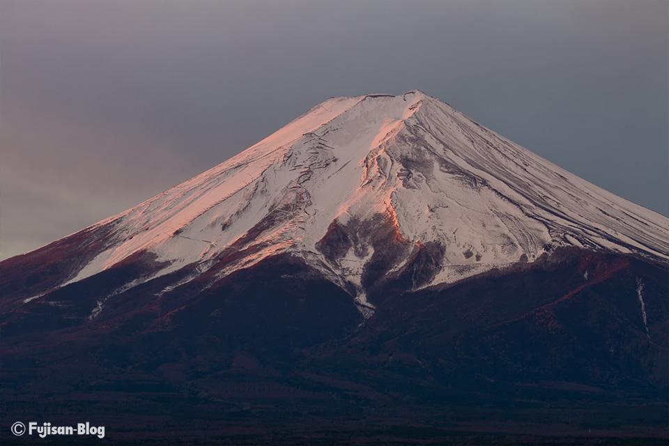 【富士山写真】ほんのり紅富士