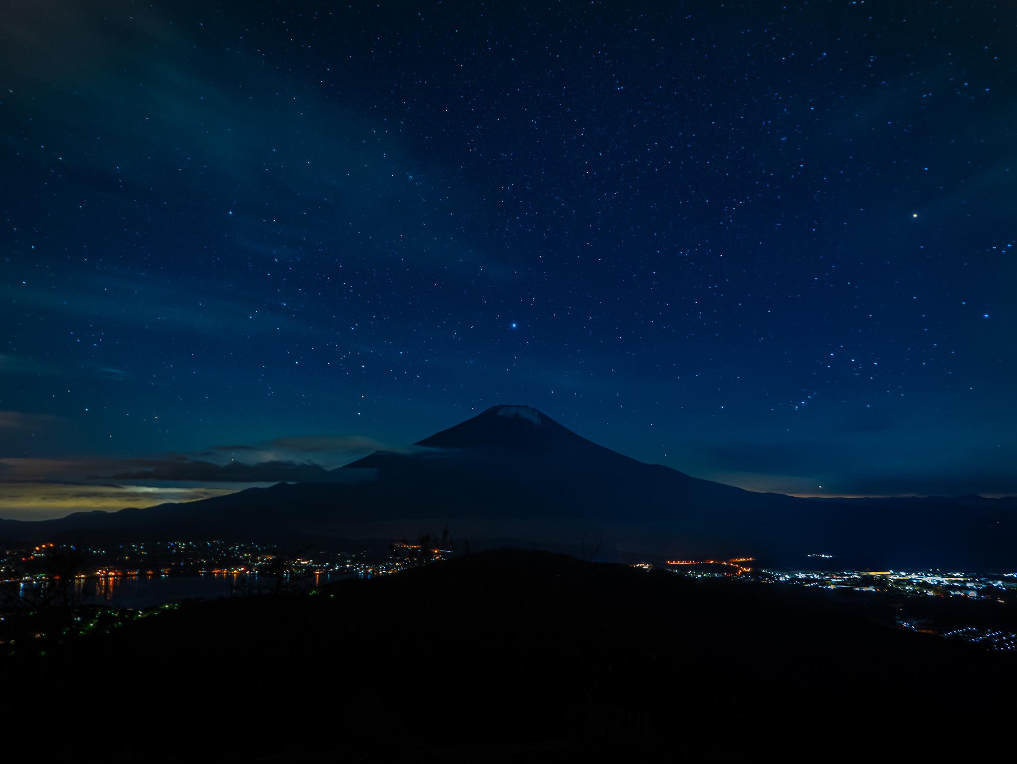 【富士山写真】2020年12月28日 山中湖村石割山