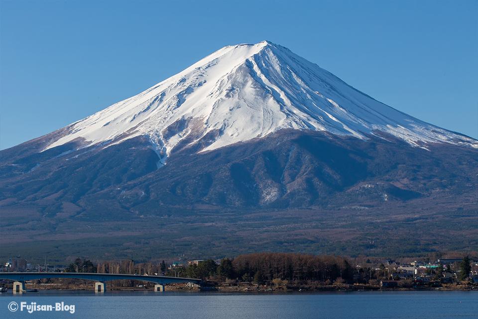 【富士山写真】河口湖からクッキリとした富士山