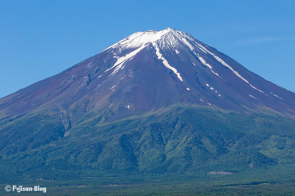 【富士山写真】河口湖から梅雨の合間のクッキリとした富士山