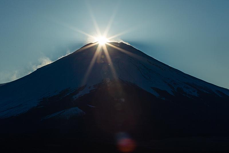 【富士山写真】2020年2月23日 ダイヤモンド富士